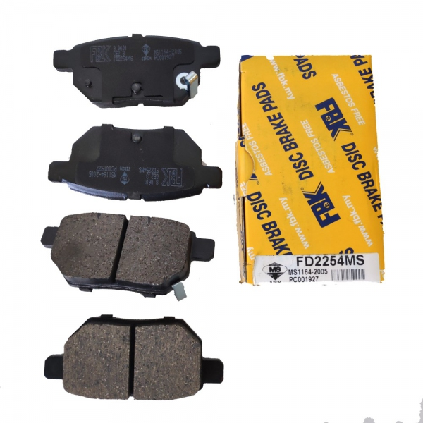 FBK Rear Brake Pads for Toyota Vios NCP93 / NCP150, 1 Set. (Ref Part No: FD2254MS)