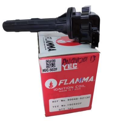 YEC FLAMMA Ignition Coil for Toyota Avanza 1.3 / Perodua Kembara DVVT.  1pc. (Ref Part No: IGC502F)