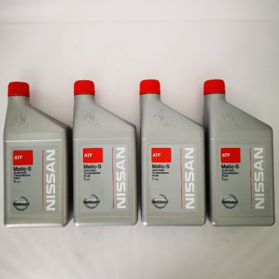 Nissan TF Matic-S Automatic Transmission Fluid 1 Liter x 4 (Set of 4 x 1L = 4 Liters)
