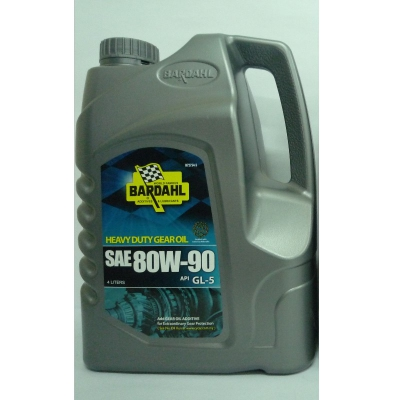Bardahl Heavy Duty Gear Oil SAE 80W-90 4 Liters