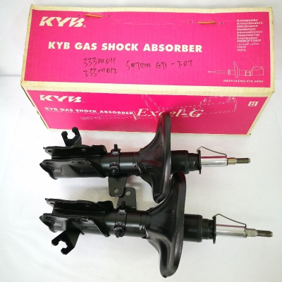KYB Excel-G Front Gas Shock Absorbers for Proton Satria GTI. 1 Pair - FLH & FRH. (P/N: 333M011 - Front RH, 333M012 - Front LH)