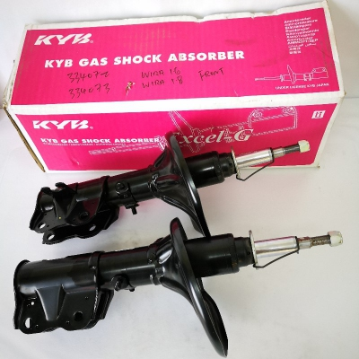 KYB Excel-G Front Gas Shock Absorbers for Proton Wira 1.6 / 1.8.  1 Pair - FLH + FRH. (P/N: 334072 - Front RH, 334073 - Front LH)