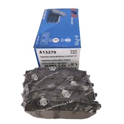 LPB Front Brake Pads for Toyota Vios NCP93 E & J, Perodua Alza MPV. 1 Set (Ref Part No: A13270)