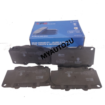 LPB Front Brake Pads for Toyota Fortuner 1st Gen KUN50R 2.5(D), AN50/60 TGN51R/61R 2.7(P), Hilux 7th Gen Vigo AN10/20/30 KUN25 4x4  2.5(D)
