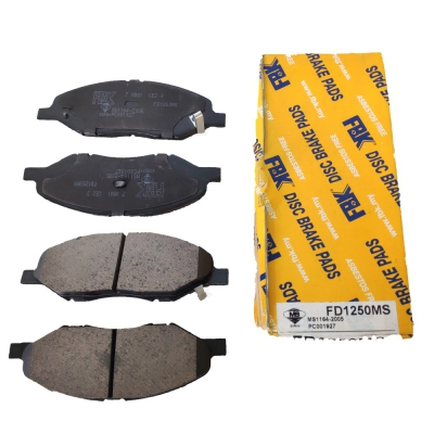 FBK Front Brake Pads for Nissan Sylphy G11, 1 Set. (Ref Part No: FD1250MS)