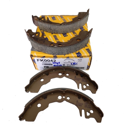 FBK Rear Brake Shoes for Perodua Axia / Myvi. 1 Set (Ref Part No: FK0042)