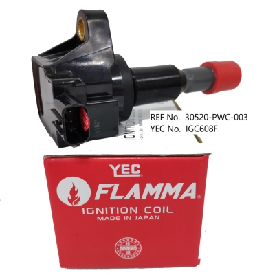 YEC FLAMMA Ignition Coil for Honda City SEL VTEC, 1pc. (Ref Part No: IGC608F)