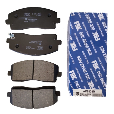 FBK Front Brake Pads for Exora Bold (Turbo), 1 Set (Ref Part No: AF6839M)
