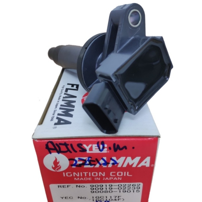 YEC FLAMMA Ignition Coil for Toyota Corolla / Altis Old Model 2ZE122. 1pc. (Ref Part No: IGC117F)