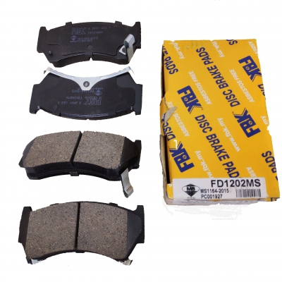 FBK Front Brake Pads for Nissan Sentra B14, 1 Set (Ref Part No: FD1202MS)