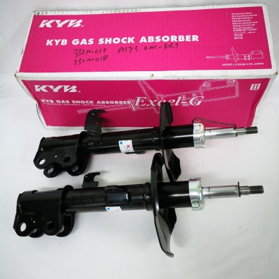KYB Excel-G Front Gas Shock Absorbers for Toyota Altis O.M. 1 Pair - FLH & FRH. (P/N: 332M017 - Front RH, 332M018 - Front LH)