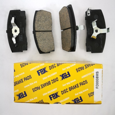 FBK Front Brake Pads for Perodua Rusa, Daihatsu Charade G100. 1 Set. (Ref Part No: FD0008MS)