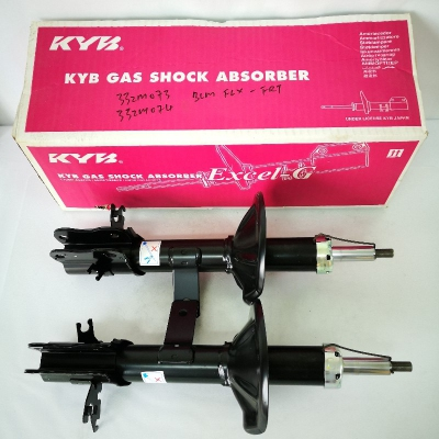 KYB Excel-G Front Gas Shock Absorbers for Proton Saga FLX. 1 Pair - FLH & FRH. (P/N: 332M073 - Front RH, 332M074 - Front LH)
