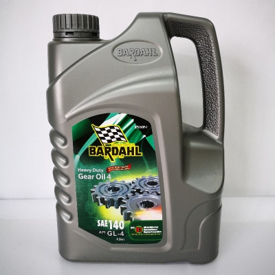 Bardahl Heavy Duty Gear Oil 4, SAE140 API GL4 (4 Liters)