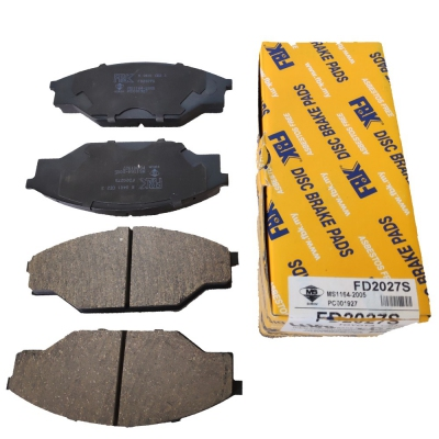 FBK Front Brake Pads for Toyota Hiace LH80, 1 Set (Ref Part No: FD2027S)
