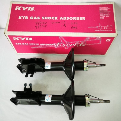 KYB Excel-G Front Gas Shock Absorbers for Proton Wira 1.3/1.5. 1 Pair - FLH & FRH. (P/N: 333124 - Front RH, 333125 - Front LH)