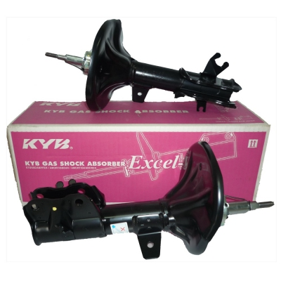 KYB Excel-G Front Gas Shock Absorbers for Proton Satria Neo. 1 Pair - FLH + FRH (P/N: 333M031 - Front RH, 333M032 - Front LH)