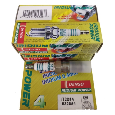 Denso Iridium Power Spark Plugs IT20 for Proton Gen2/Persona/Waja/Satria Neo/Saga BLM/Exora/Preve Campro Engine (4 pcs)