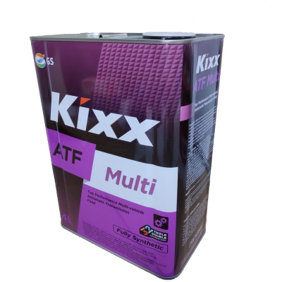 Kixx ATF Multi Fully Synthetic Multi-vehicle Automatic Transmission Fluid. 4L