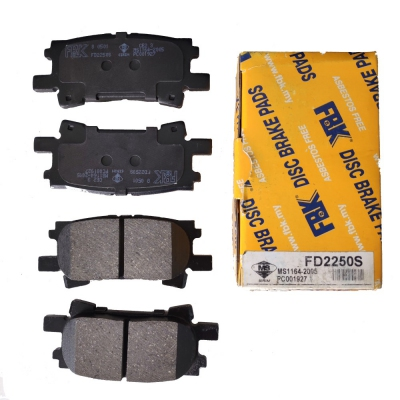 FBK Rear Brake Pads for Toyota Harrier MCU30. 1 Set. (Ref Part No: FD2250S)