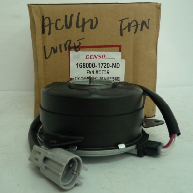 Denso Fan Motor for Toyota Camry ACV40 WIRE (8480), 1pc (Ref Part No: 168000-1720)