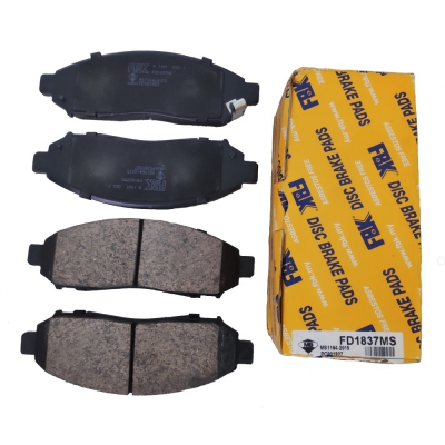 FBK Front Brake Pads for Nissan Navara / Frontier D22 (1st Gen), Serena C25. 1 Set (Ref Part No: FD1837MS)