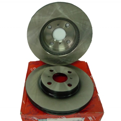 TRW Front Brake Discs for Perodua Alza (New) / Toyota Vios NCP93 / Yaris.  2 pcs. (Ref Part No: DF4806)