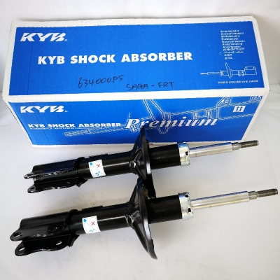 KYB Premium Front Oil Shock Absorbers for Proton Saga / Iswara (C21A, C22A) 1985-2008. 1 Pair - FLH + FRH. (P/N: 634000PS for both Front LH and RH)
