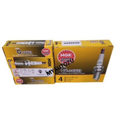 NGK G-Power Platinum Alloy Spark Plugs BKR6EGP for Proton Waja, Wira, Nissan Sentra, Honda City, Suzuki Swift, etc. (4 pcs)