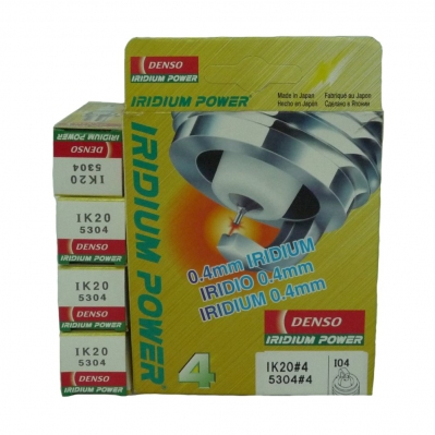 Denso Iridium Power Spark Plugs IK20 for Toyota Camry / Alphard / Estima / Harrier / Ipsum, Honda City / Jazz i-DSI (4 pcs)